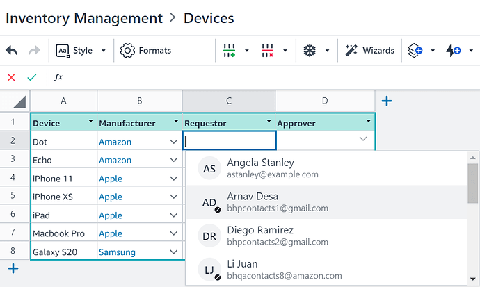 Select Contact from pull-down_Image