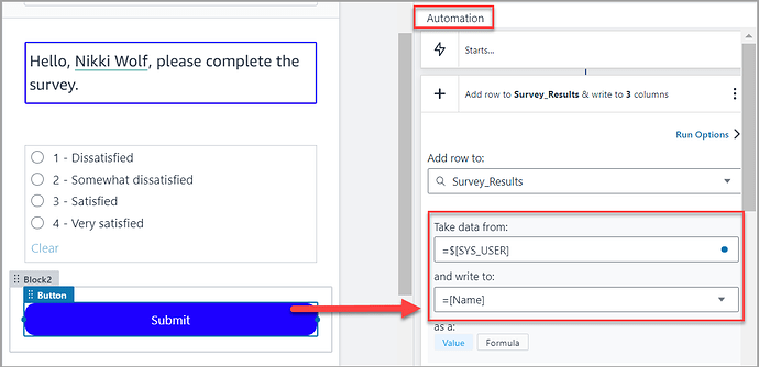 SYS_USER Variable used in an Automation Image