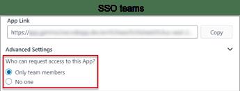 Request Access SSO Teams