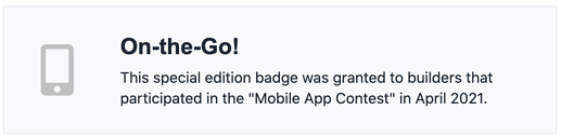 On the Go badge